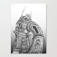 Exuberant Architecture Canvas Print
