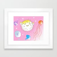 Little Fugu Framed Art Print