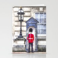 Buckingham Palace Queens Guard Art Stationery Cards