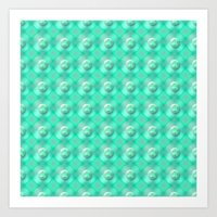 Verdigris Pearls Art Print