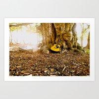 Nature & It's Guitar Art Print