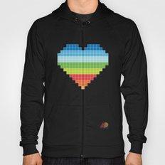 Pixelated Heart. Hoody
