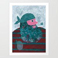 Lobo de mar Art Print