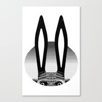 Peekaboo Rabbit Canvas Print