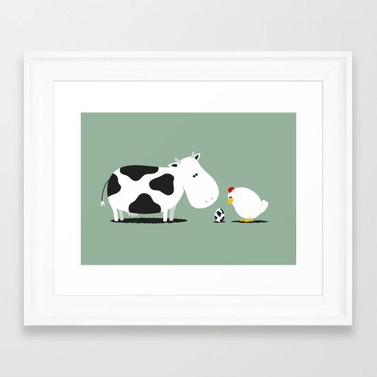 A birth day Framed Art Print