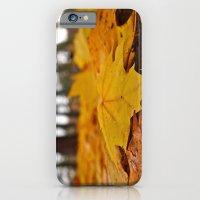Golden leaves iPhone 6 Slim Case