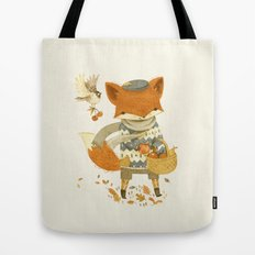 Fritz the Fruit-Foraging Fox Tote Bag