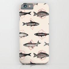 Fishes In Geometrics (Red) iPhone 6 Slim Case