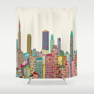 New York Modern  Shower Curtain