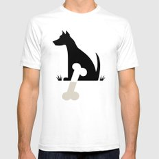 Gave a Dog a Bone (Green) Mens Fitted Tee SMALL White
