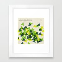 Jazz Revival Collection - Triangles Framed Art Print