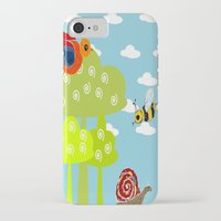 bee iPhone & iPod Cases featuring bee by Susycosta