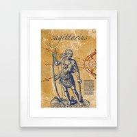 sagittarius | schütze Framed Art Print