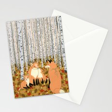 Fox family in the autumn forest Stationery Cards