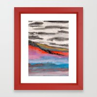 Watercolor abstract landscape 05 Framed Art Print