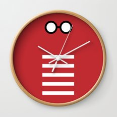 Where's Waldo Minimalism Wall Clock