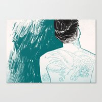 Tattooed skin. Canvas Print