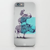 iPhone & iPod Case featuring Magic traits - zebrhino by Andrei Clompos