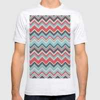 Aztec chevron pattern- grey Mens Fitted Tee Ash Grey SMALL
