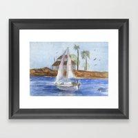 Blissful Bay Framed Art Print