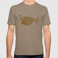 Fish Mens Fitted Tee Tri-Coffee SMALL