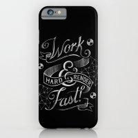 iPhone & iPod Case featuring Work Hard & Render Fast! by Ellen Su