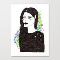 Gothic spring girl Canvas Print