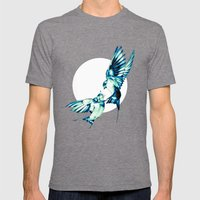Birds Mens Fitted Tee Tri-Grey SMALL