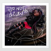 Bug Girls: Napping Spide… Art Print