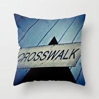 Crosswalk Throw Pillow