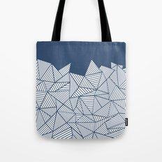 Abstract Mountain Navy Tote Bag