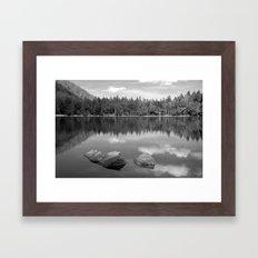 Mirrored Lake Framed Art Print