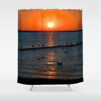 Summer Sunset on the Baltic Sea Shower Curtain