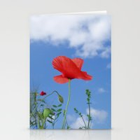 Red white and blue Stationery Cards