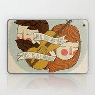 Music Is All Around Laptop & iPad Skin