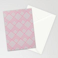 Diamond Art Deco; - Pink Stationery Cards