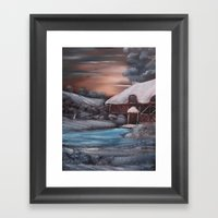 Chocolate Box Cottage In… Framed Art Print