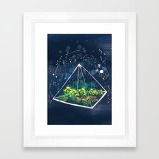 The Greenhouse at Night Framed Art Print