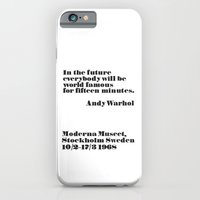 iPhone & iPod Case featuring Andy Warhol by Joannes