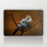 Male and Female Cordon Bleu Canaries Laptop & iPad Skin