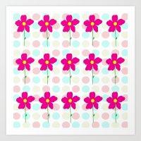 Flower.. Polka Dot Art Print
