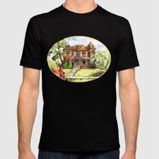 Victorian Mansion in the Spring Mens Fitted Tee Black SMALL