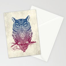 Evening Warrior Owl Stationery Cards
