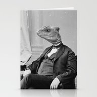 Stationery Cards featuring DR. LIZARD by Bakus