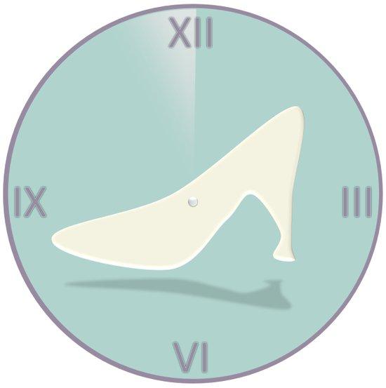 Cinderella Clock Art Print