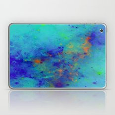Blue Atmoshpere - Abstract in green, blue, orange and red Laptop & iPad Skin