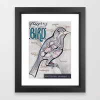 Anatomical Bird Framed Art Print