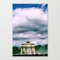 Arque Du Triomphe. Paris… Canvas Print