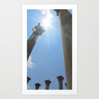 Shining Pillar Art Print
