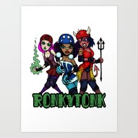 RonkyTonk Halloween Roller Derby Shirt Art Print